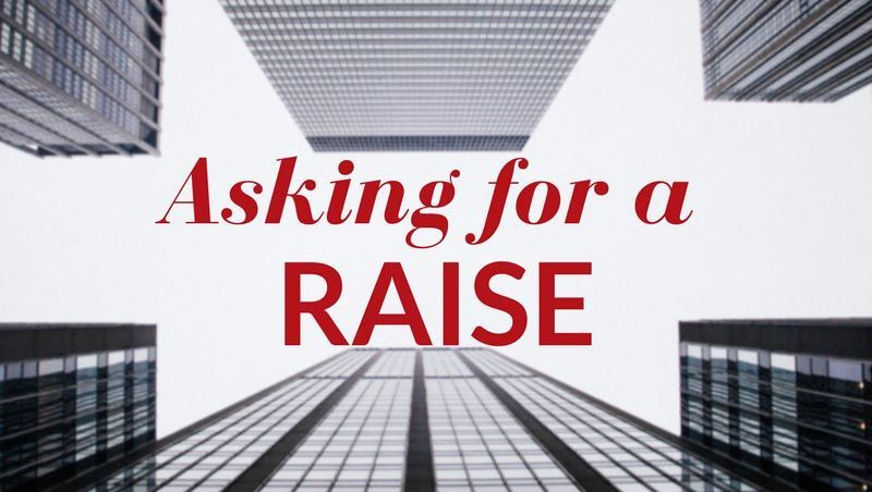 Asking for a raise graphic